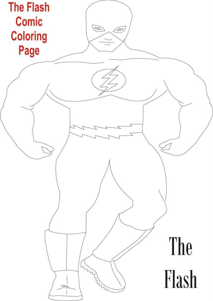 Yellow Flash Coloring Pages