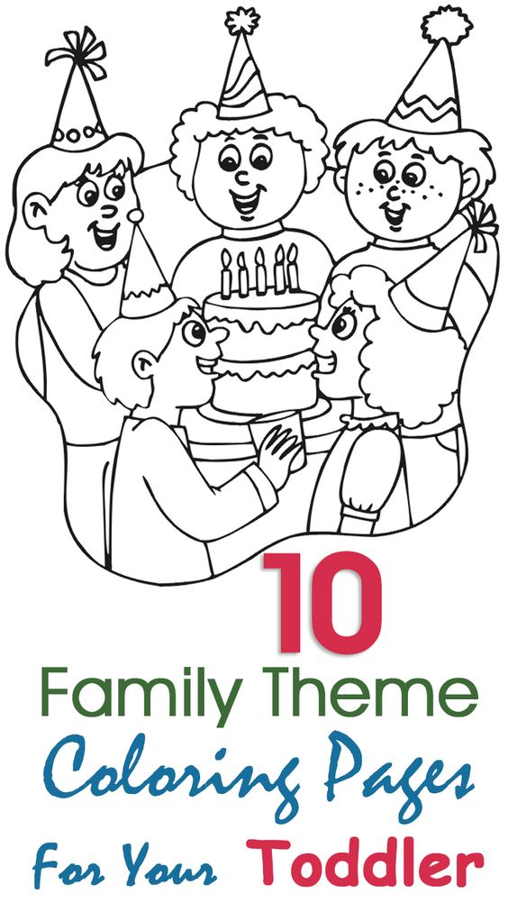 Top 10 Free Printable Family Coloring Pages Online | Family Theme ...