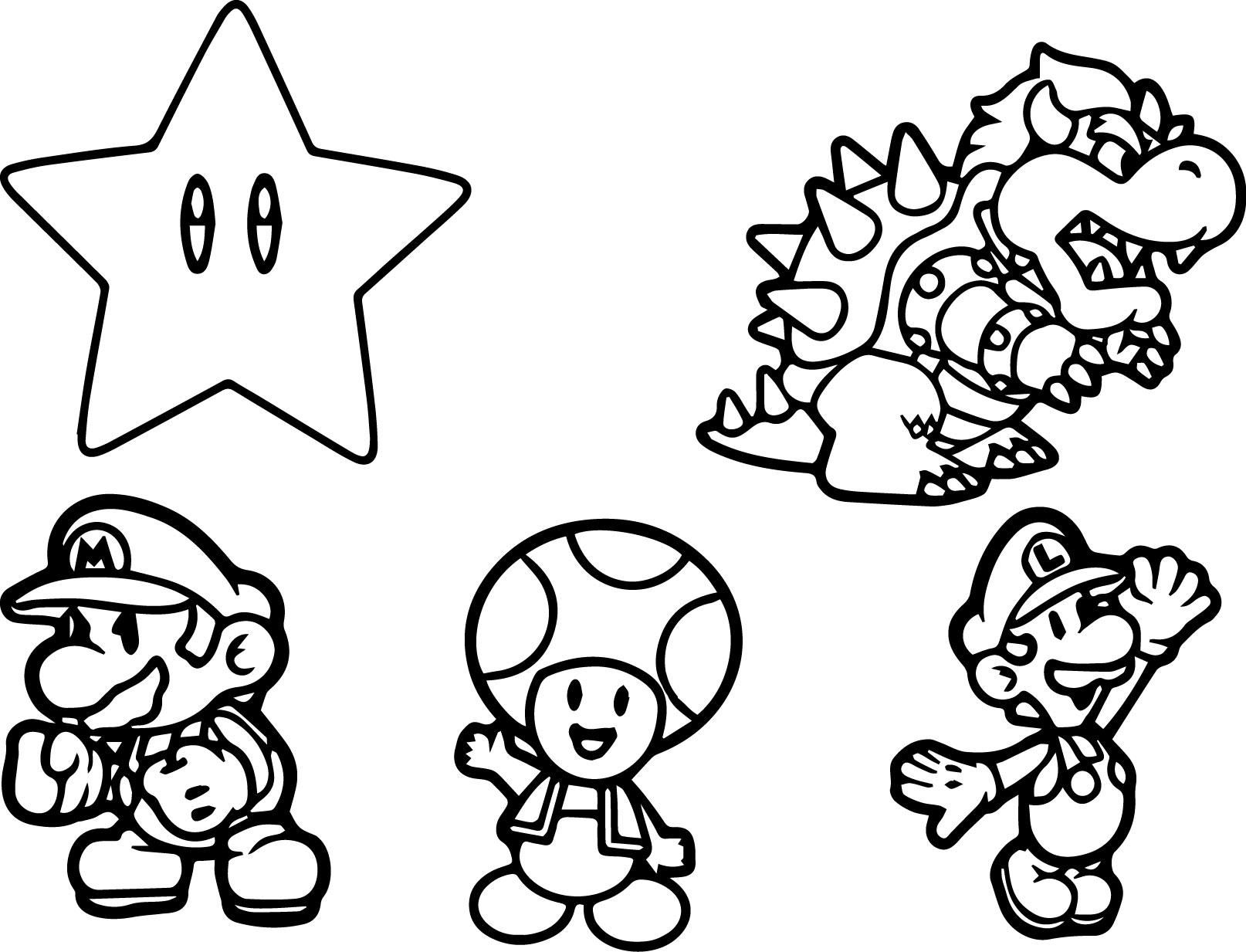 Mario Characters Coloring Pages | Coloring Pages