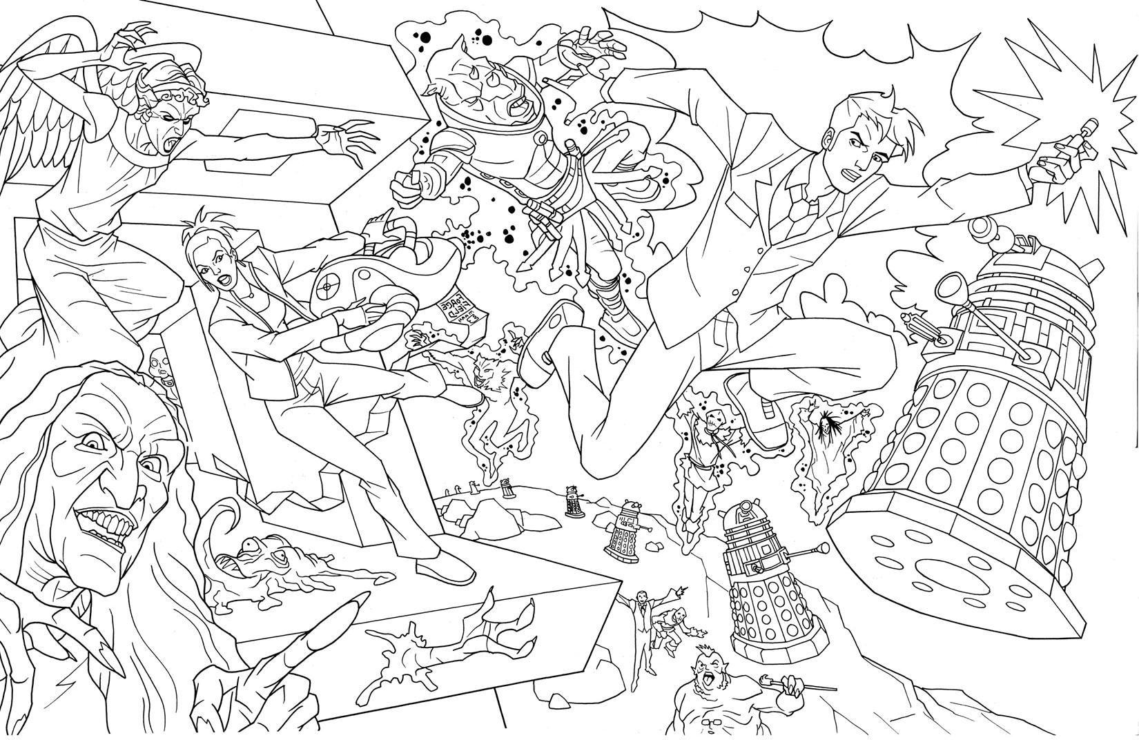 doctor who coloring pages free 5 doctor who coloring pages