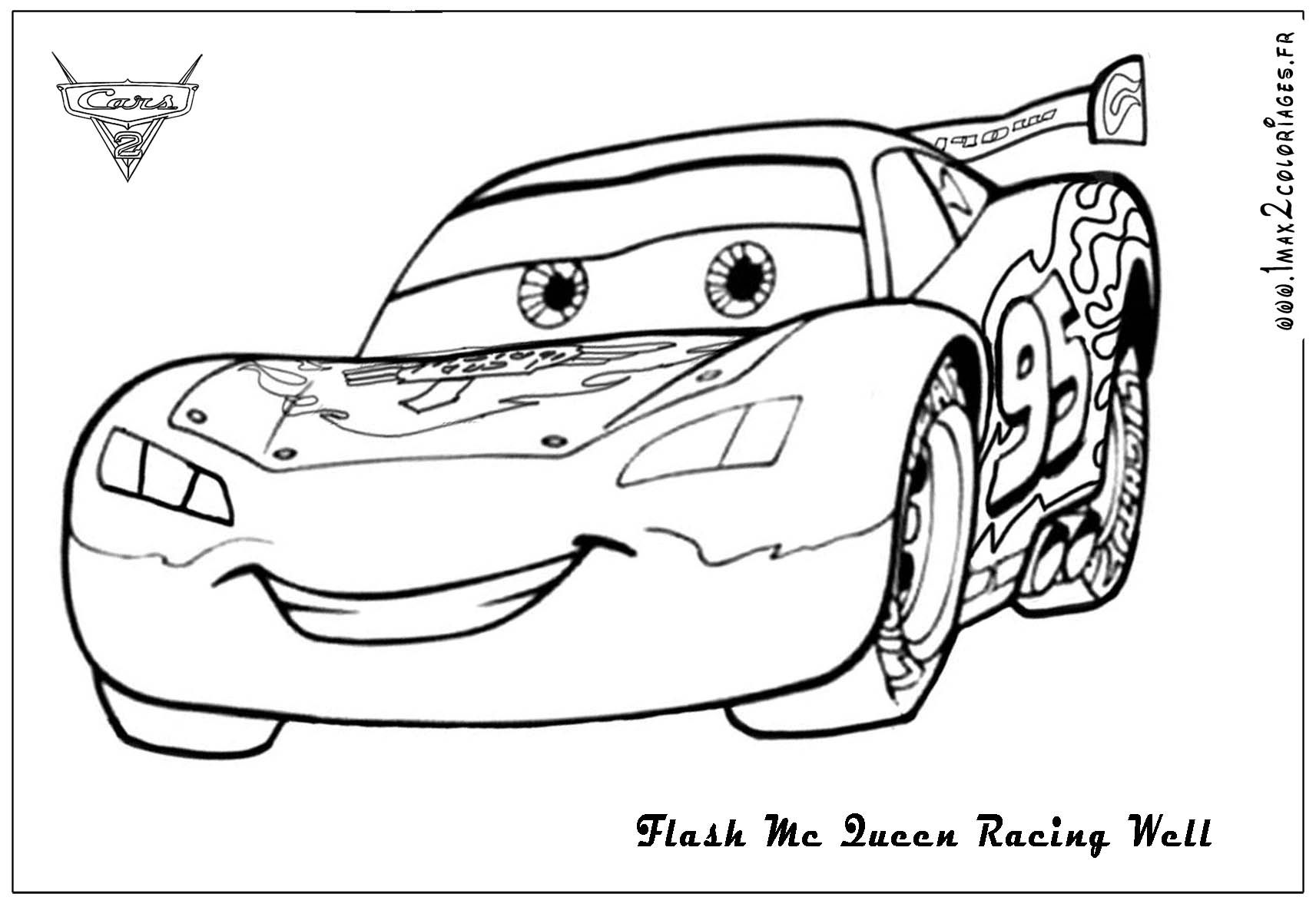 Free coloring page lightning mcqueen - Lightning Mcqueen Coloring Page 19 Pictures Colorine Net 17188