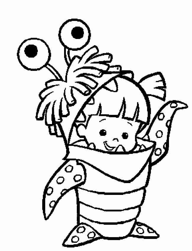 Monster Boo Coloring Pages Coloring Home