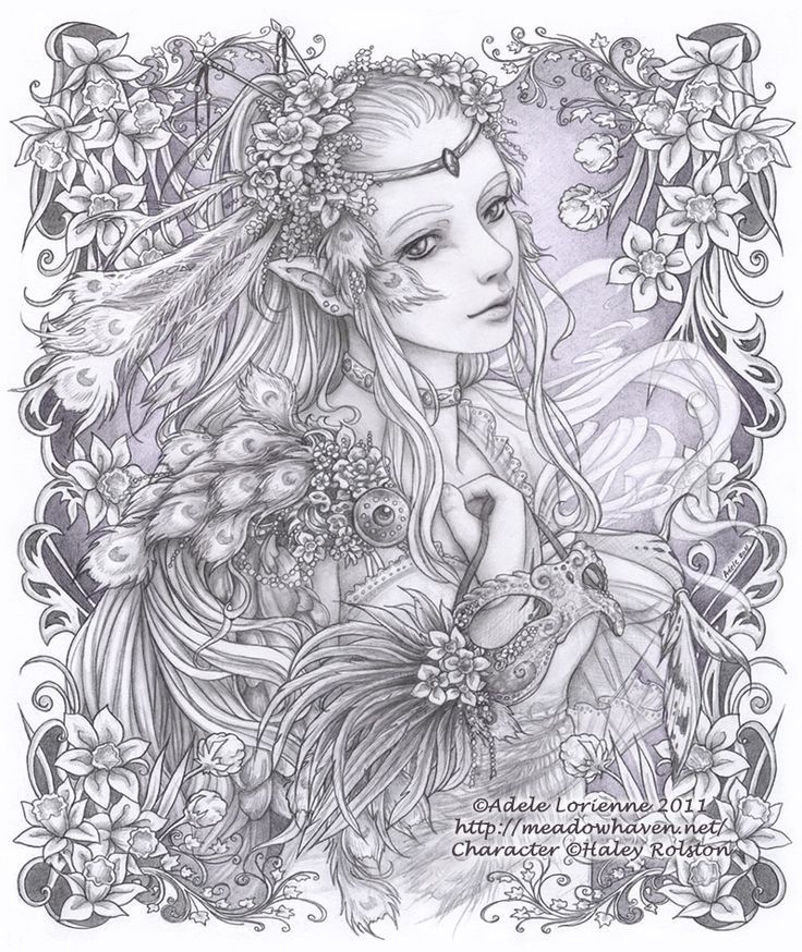 Detailed Coloring Pages For Adults Printable Fantasy ...
