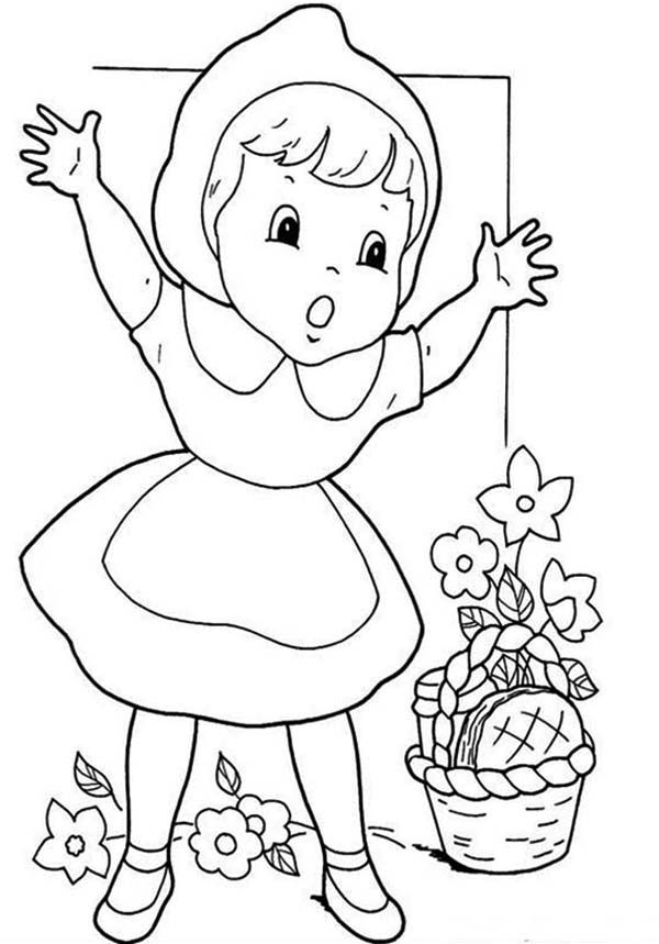 little red riding hood coloring pages free