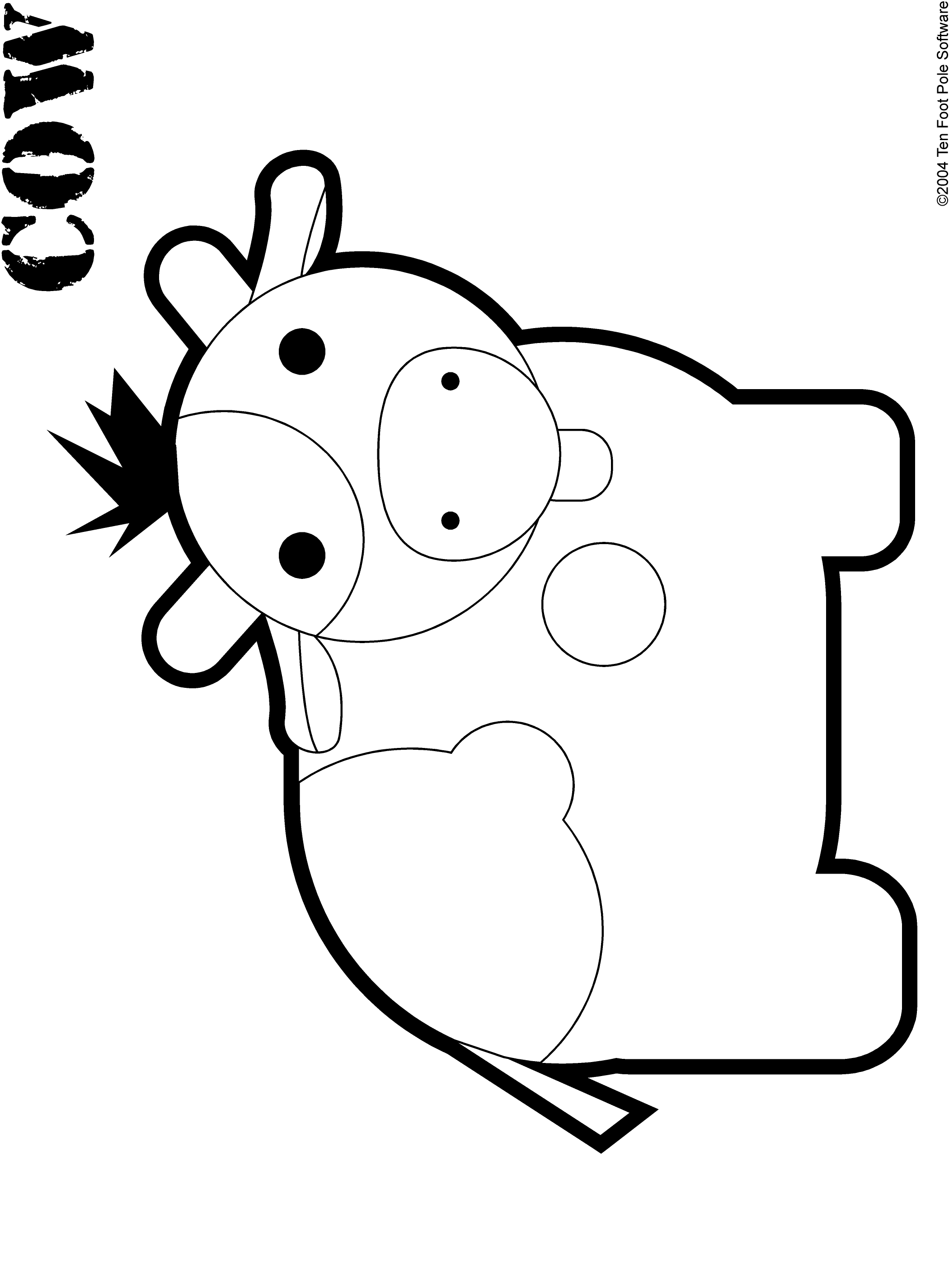 Coloring book software - Cow Print Pictures On Animal Picture Society