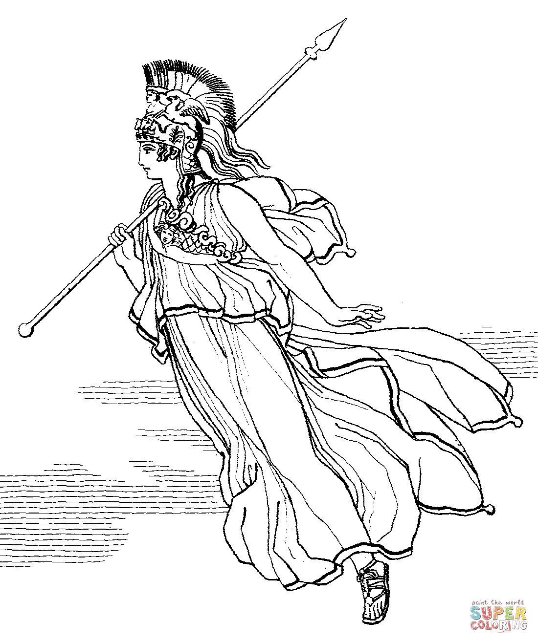 Gem Tlich Greek Mythology Coloring Pages Ideen Malvorlagen Von