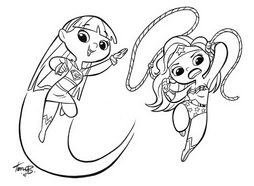 - Supergirl Coloring - Coloring Pages For Kids And For Adults