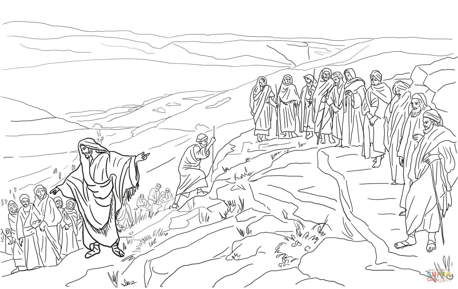 disciples coloring pages coloring home