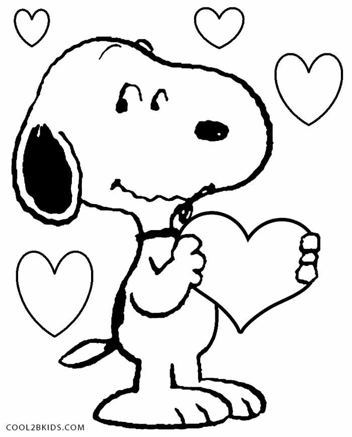 charlie brown valentine coloring pages - photo#6