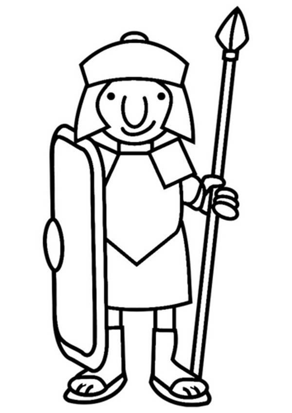 ancient roman coloring pages - photo#33