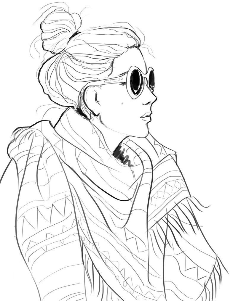 Fashion Coloring Page - Coloring Pages for Kids and for Adults