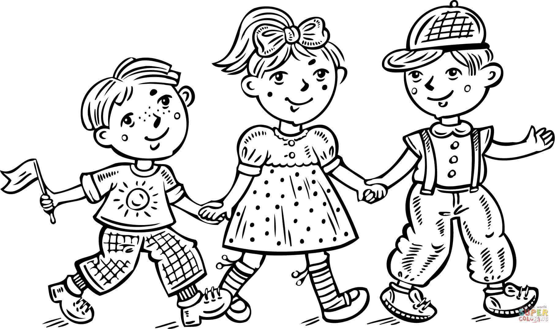 Girl And Boy Coloring Page