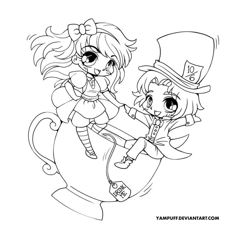 Chibi Anime Characters Coloring Pages - Ð¡oloring Pages For All Ages