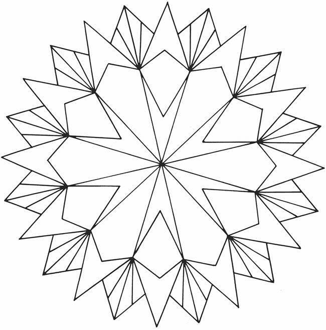 Geometric coloring pages for adults coloring home for Geometric flower coloring pages