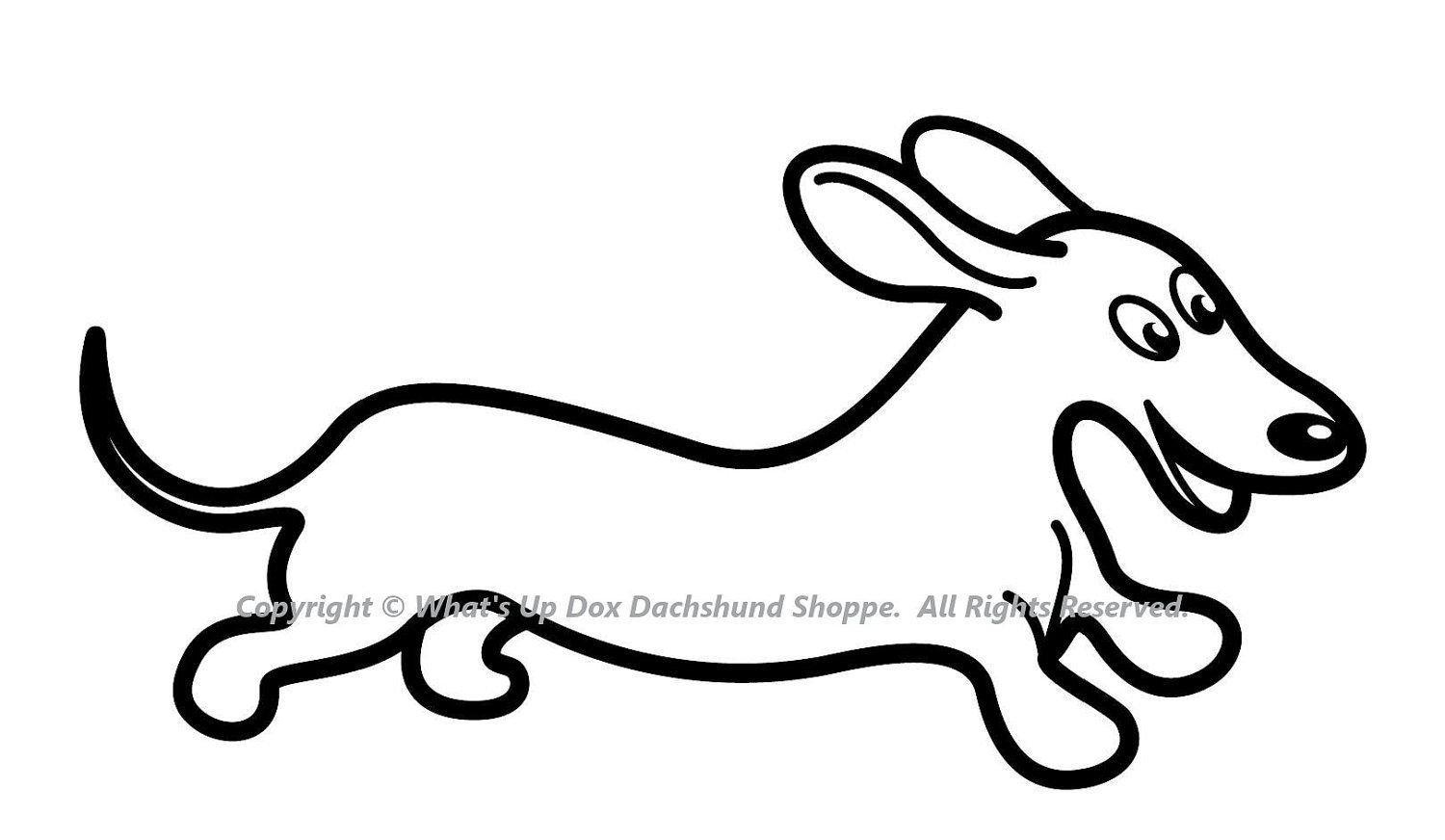 weenie dogs coloring pages - photo#33