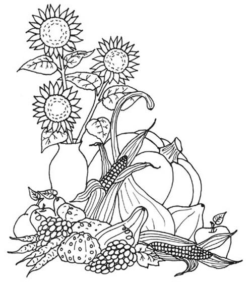 Free Thanksgiving Coloring Pages for Kids | 559x500