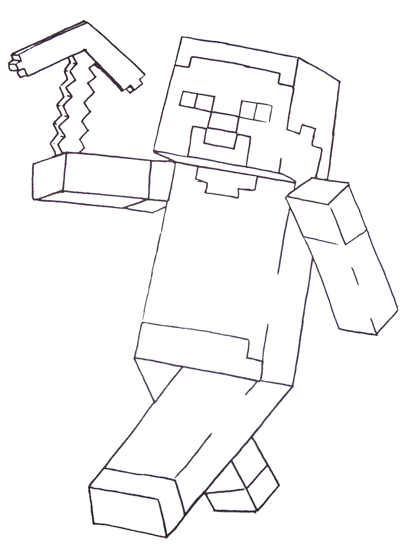 Minecraft Coloring Pages For Kids - Coloring Home