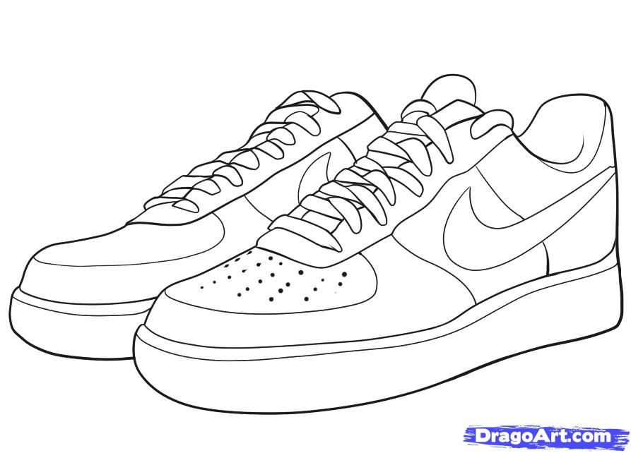 jordans shoes coloring pages - photo#18