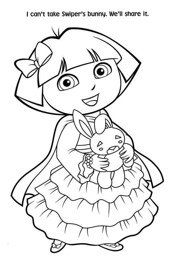 free download dora coloring pages - photo#44