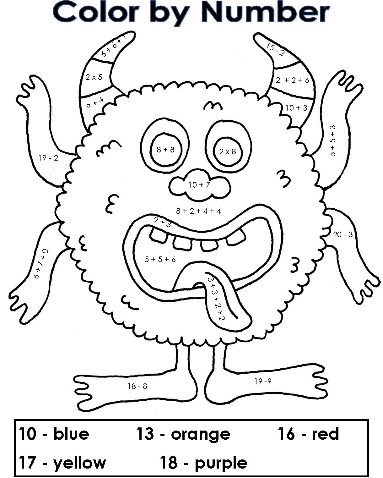 Halloween Coloring Pages Numbers : Halloween Color By Numbers Coloring Home