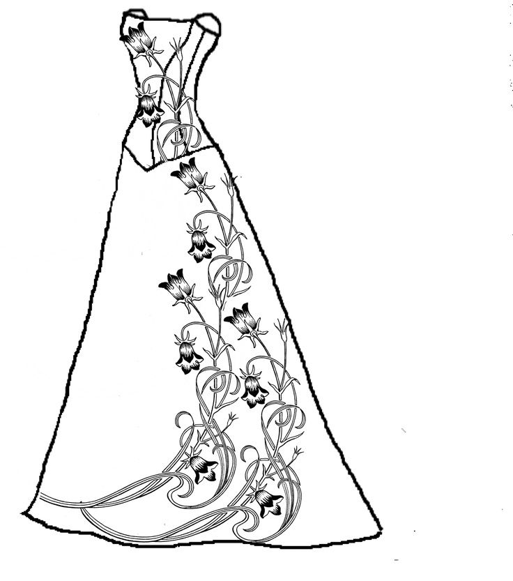This is a picture of Rare Dresses Coloring Pages