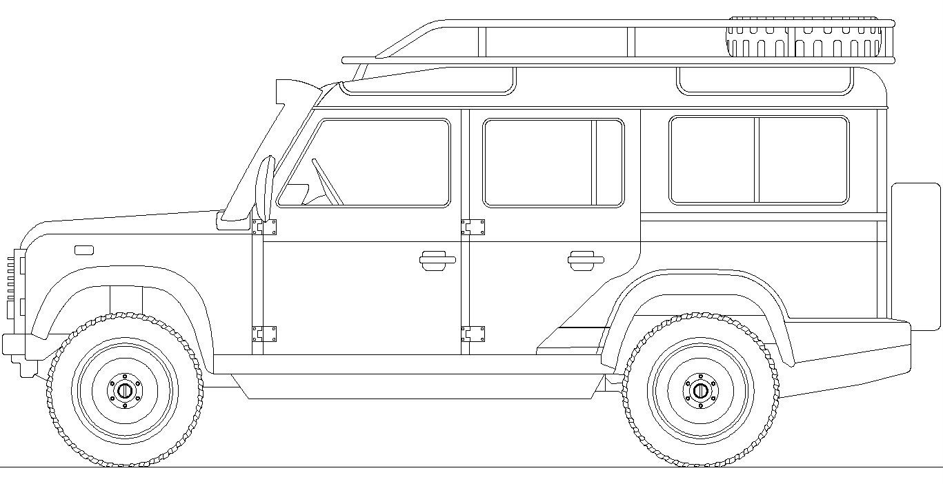 Land Rover Defender 110 Sketch Coloring Page - Coloring Home