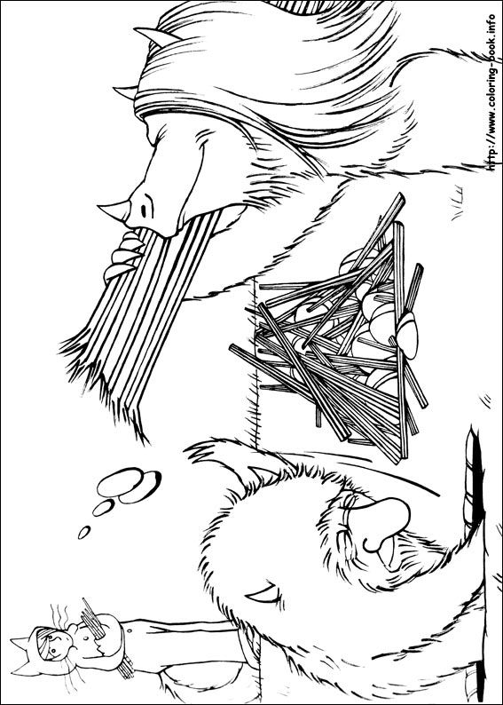 Where the wild things are coloring pages on Coloring-Book.info
