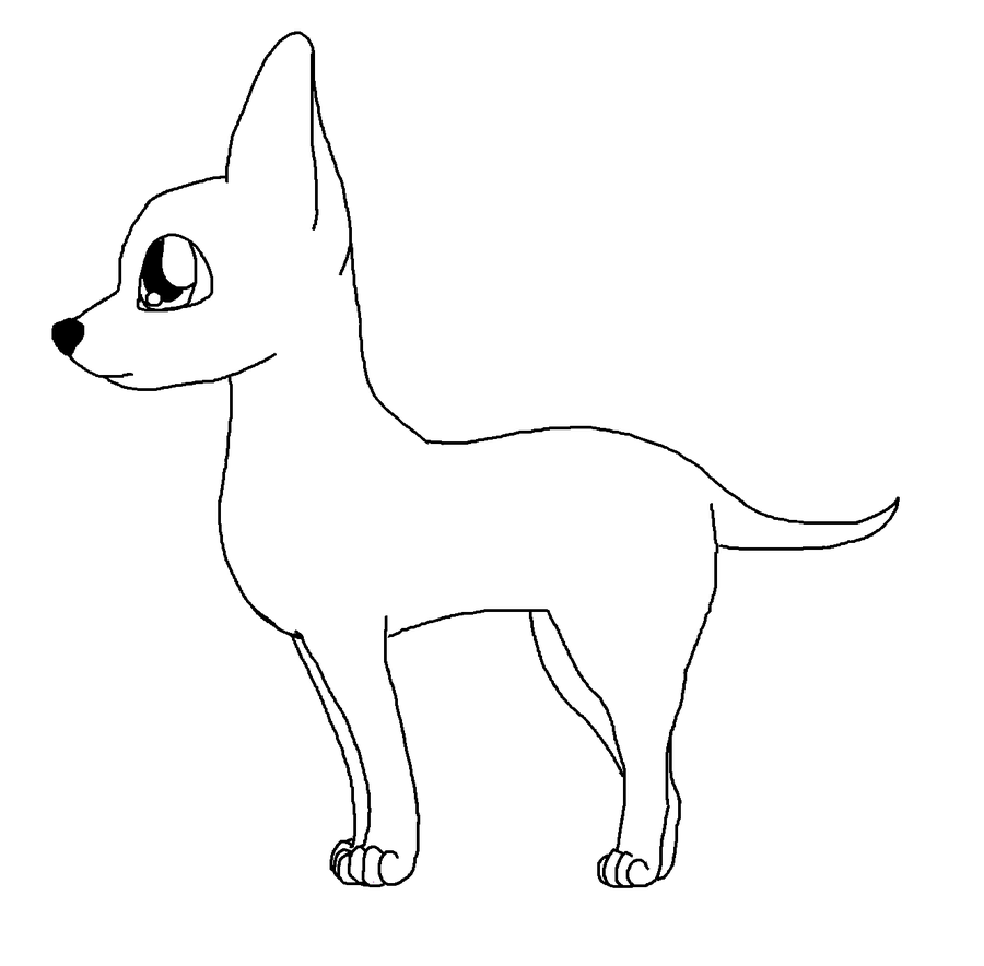 Coloring Pages Chihuahua Puppy