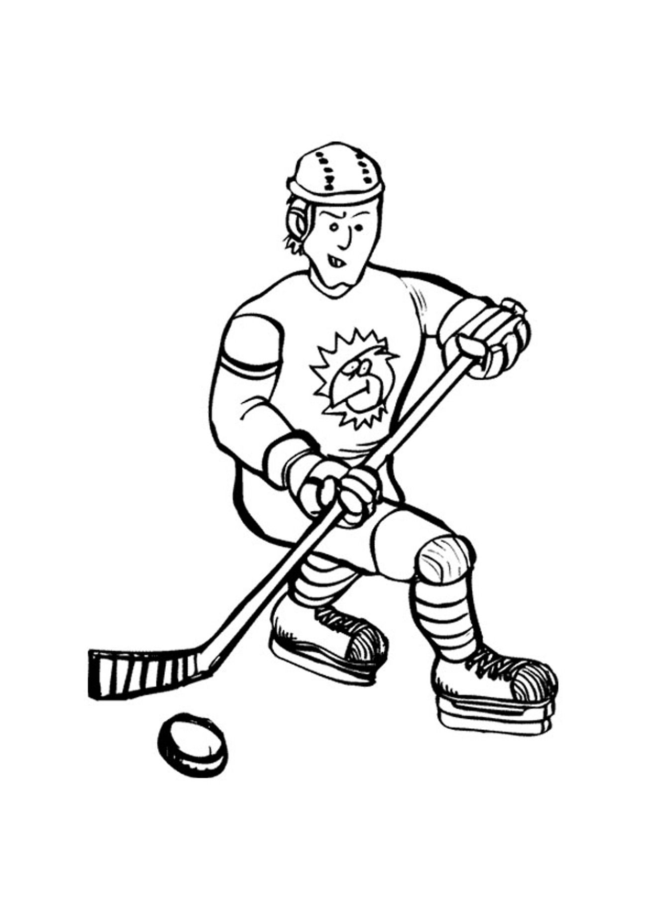 Free coloring pages hockey - Printable Hockey Coloring Pages Coloring Me