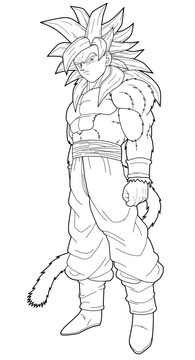 DRAGON BALL Coloring Pages  How to Draw Goku  Goku