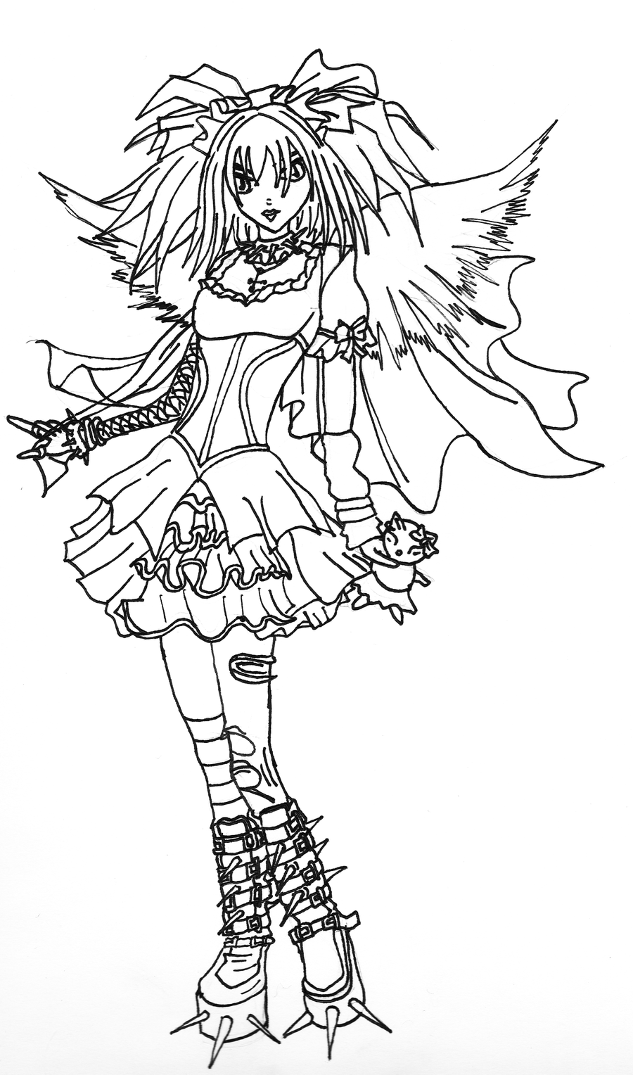 15 Pics of Gothic Girl Coloring Pages - deviantART Gothic Coloring ...