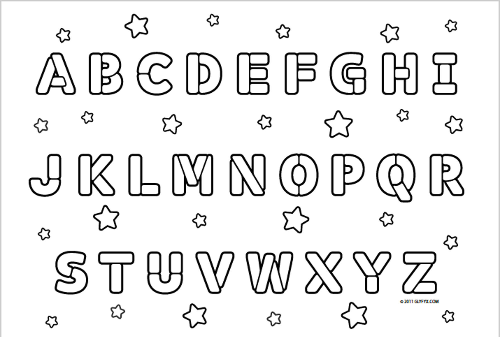 Al alphabet colouring worksheets for kindergarten - Abc Printable Coloring Pages Coloring Pages For All Ages