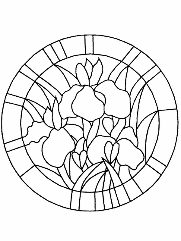Printable Easter Stained Glass Coloring Pages - Coloring Home
