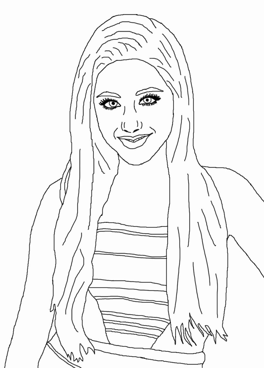 Ariana Grande Coloring Pages Coloring Home