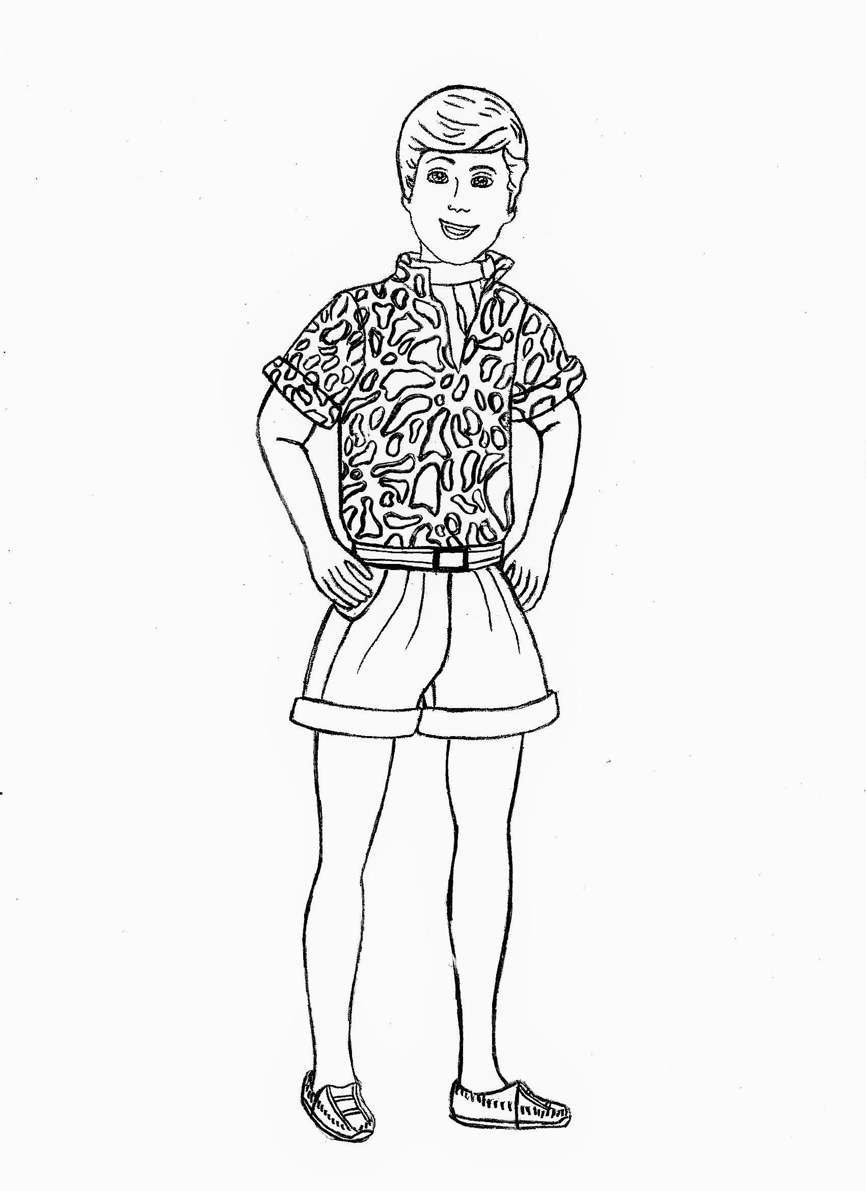 Toy Story Barbie Printable Coloring Pages