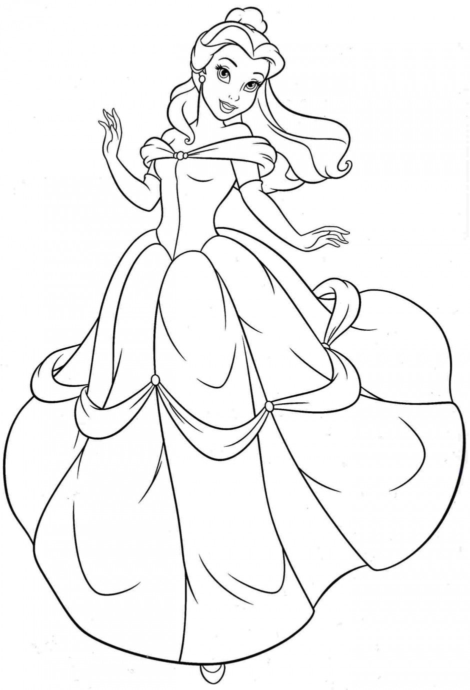 coloring pages of belle - princess belle coloring page coloring home