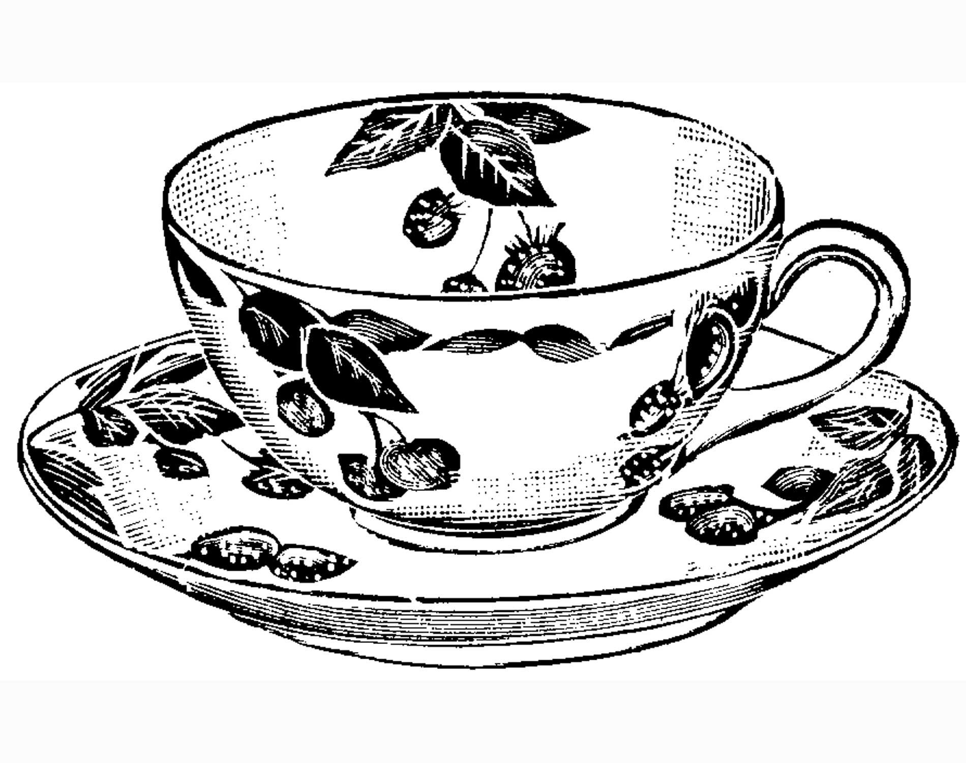 coloring pages tea cup coloring home