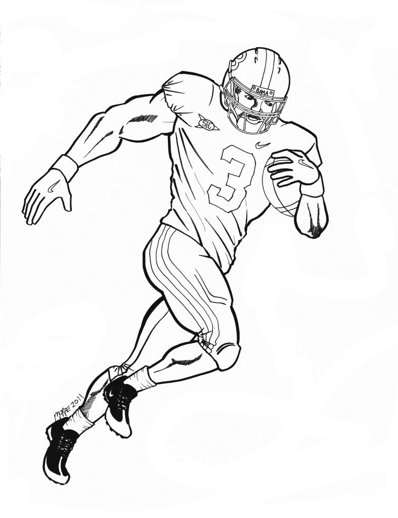 printable cam newton coloring pages - photo#10