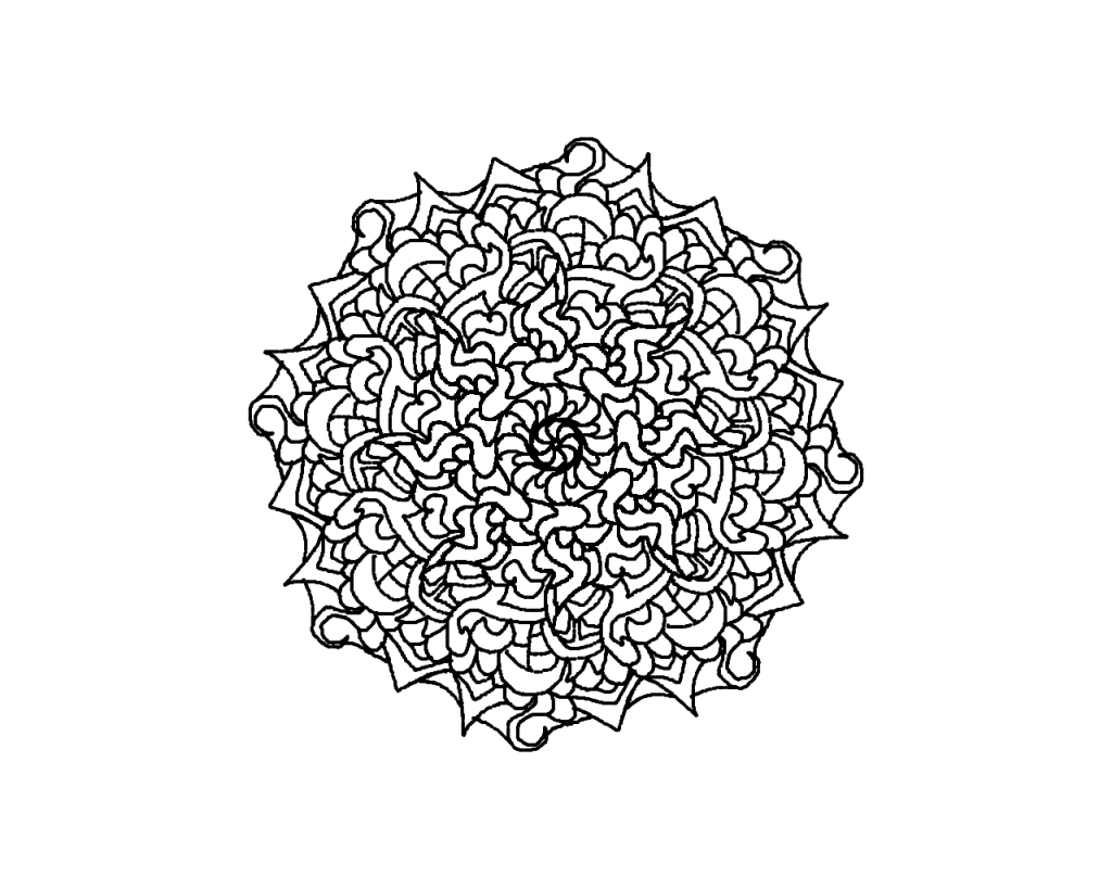 mandala coloring pages complicated love - photo#14