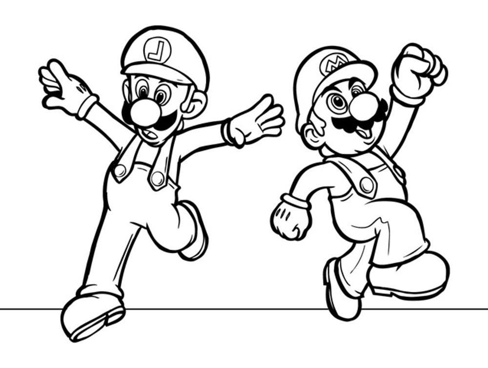 Coloring Pages Mario And Luigi To Print Super Free