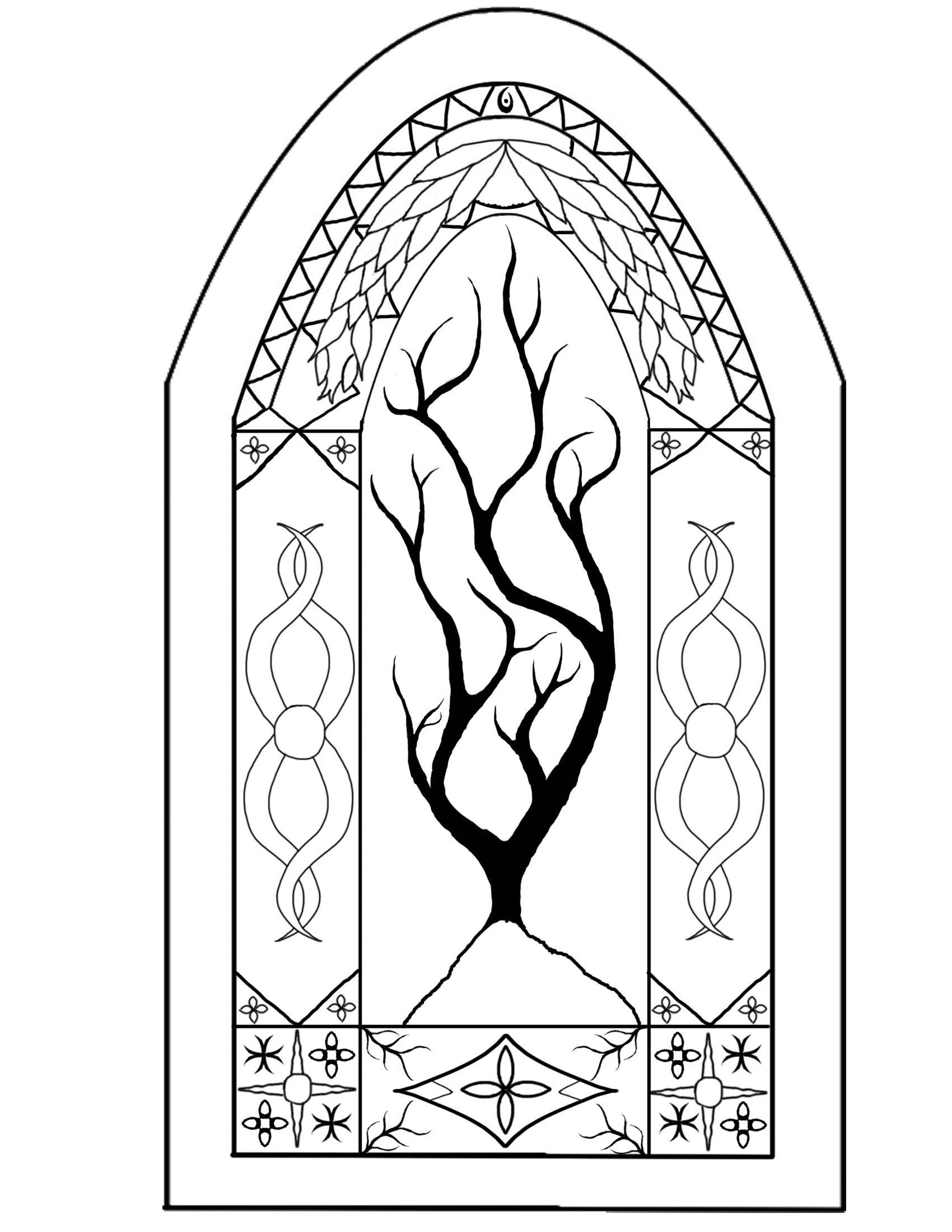 Adult Beauty Stained Glass Window Coloring Page Images top printable stained glass window coloring page az pages pictures to color for kids images