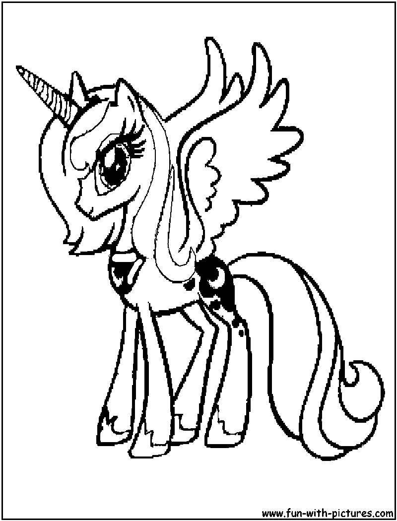 My Little Pony Ausmalbilder Baby : My Little Pony Princess Luna Coloring Pages Coloring Home