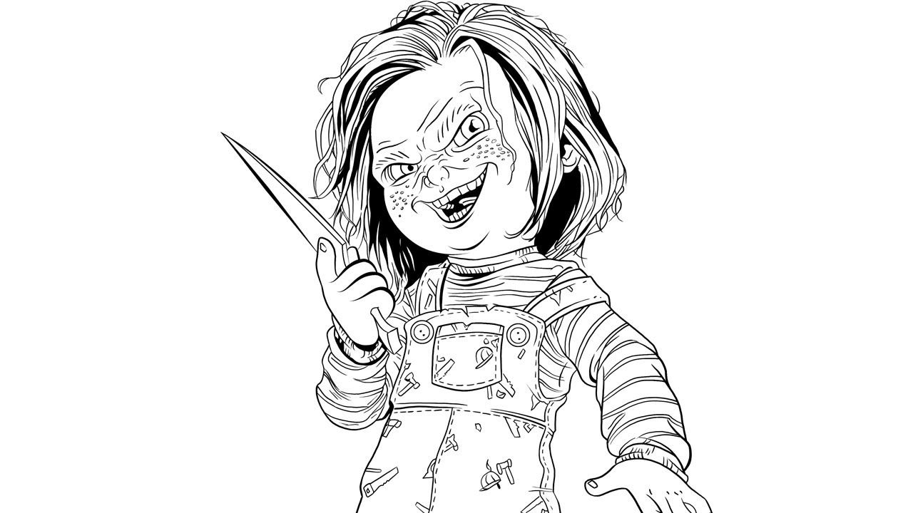 Creepy Doll Coloring Pages Home