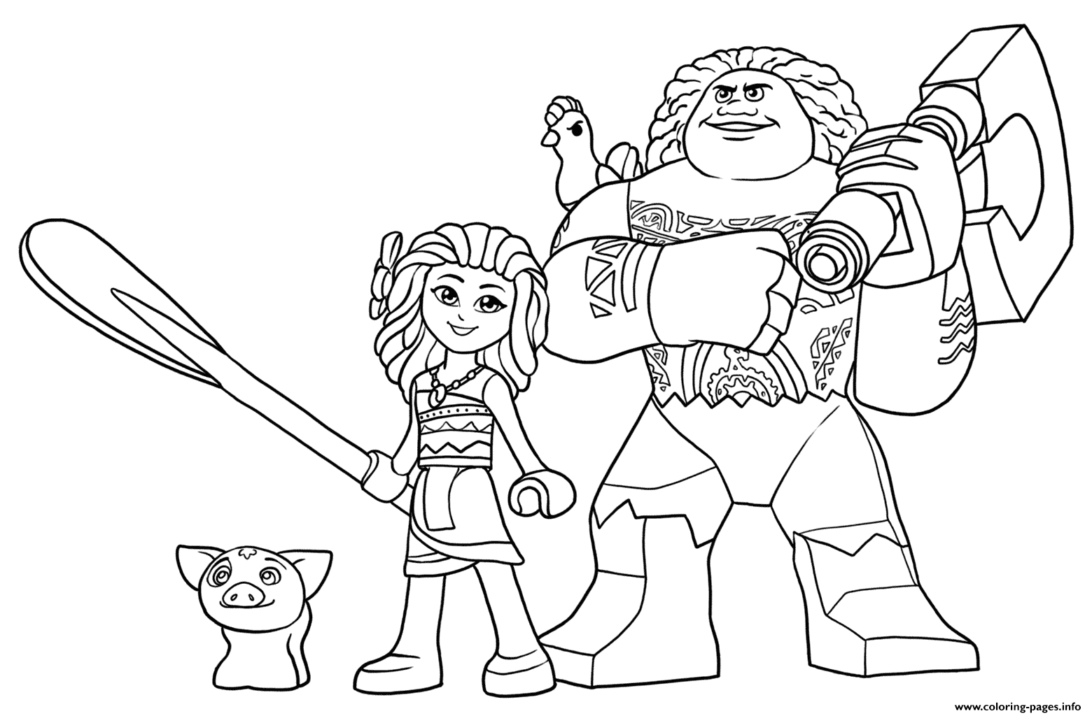 Coloring pages ideas : Awesomeloring Pages Moana Image Ideas Lego ...