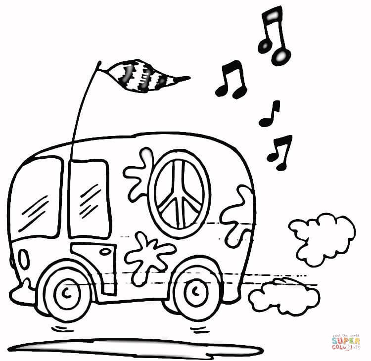 volkswagen bus coloring pages - photo#6