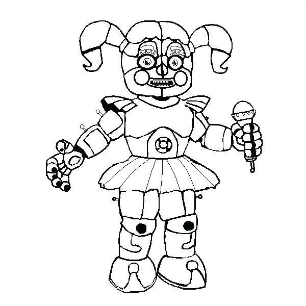 Fnaf Coloring Pages Sister Location - Free Coloring Sheets