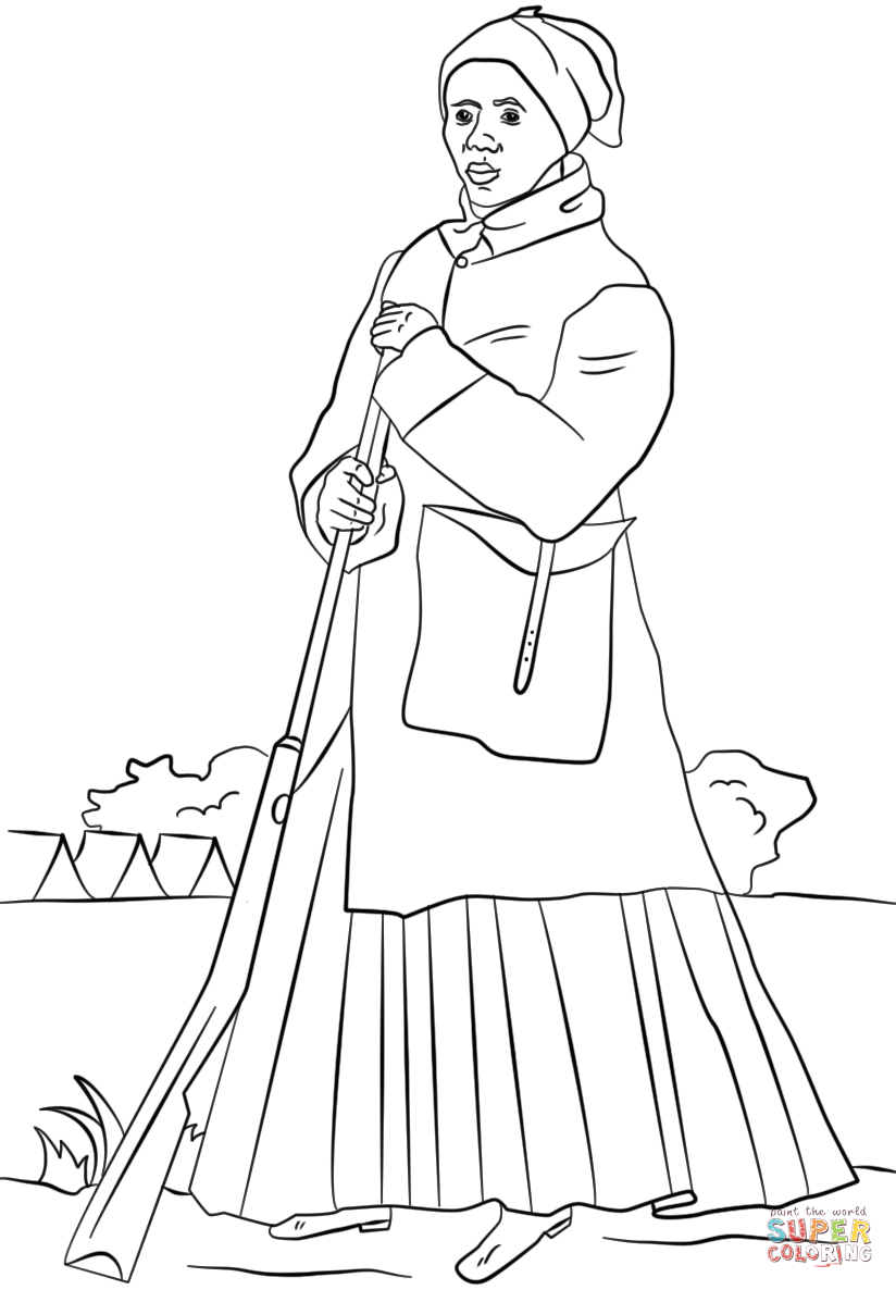 harriet tubman coloring page coloring home. Black Bedroom Furniture Sets. Home Design Ideas