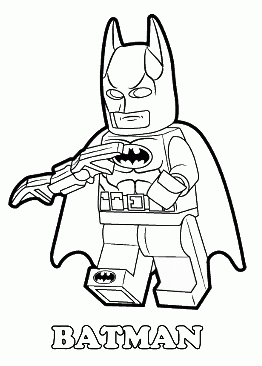 dc lego coloring pages - photo#32