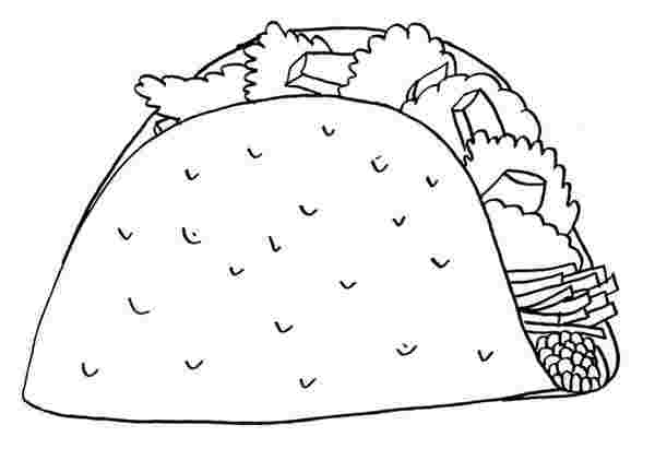 Taco Coloring Pages - Coloring Home