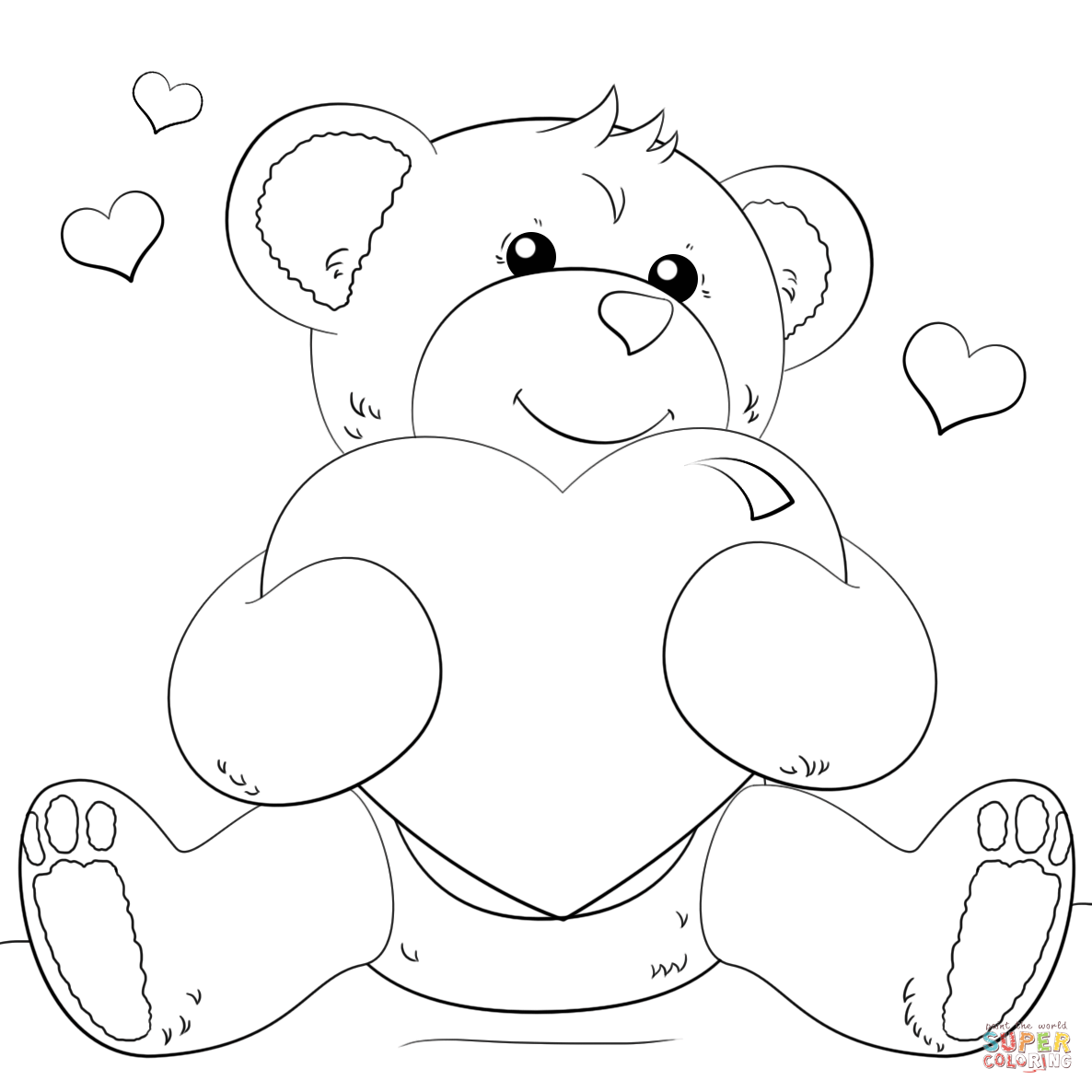 Hearts coloring pages | Free Coloring Pages